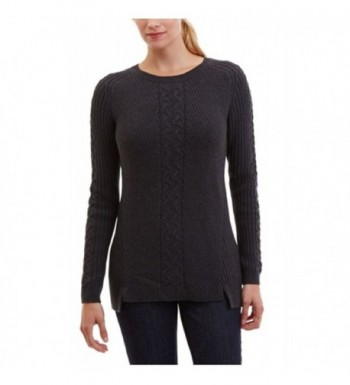 NAUTICA WOMENS SINGLE CABLE SWEATER
