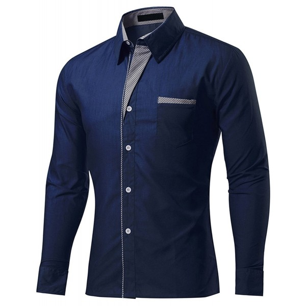 b7594cde21 DOKKIA Casual Sleeve Striped Trim Fitted. . DOKKIA Casual Sleeve Striped  Trim Fitted. Fashion Men's Dress Shirts Wholesale