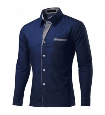 DOKKIA Casual Sleeve Striped Trim Fitted
