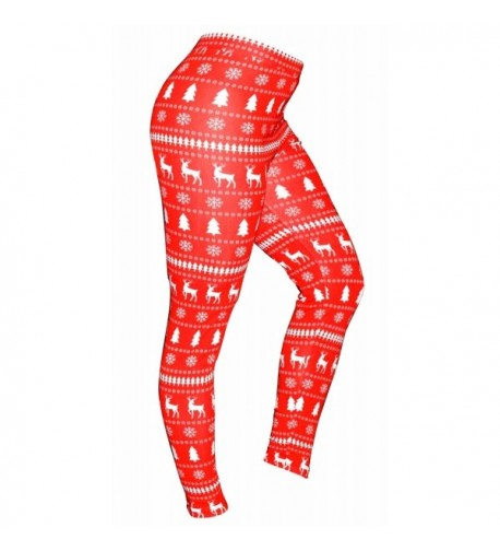 Womens Winter Matching Holiday Leggings