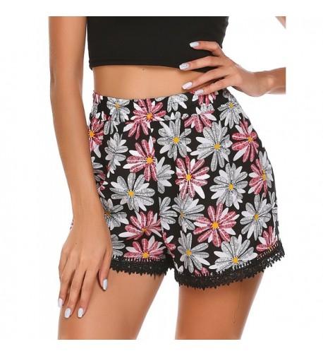 Zeagoo Womens Waisted Summer Shorts