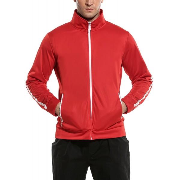 COOFANDY Zip up Turtleneck Track Jacket