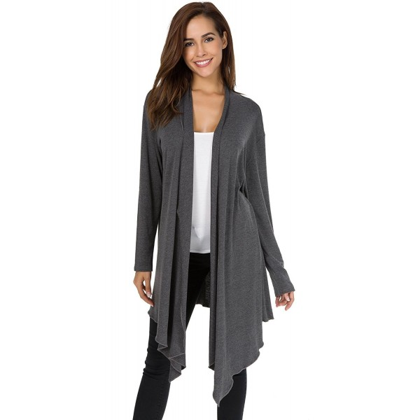 Womens Casual Sleeve Irregular Cardigan