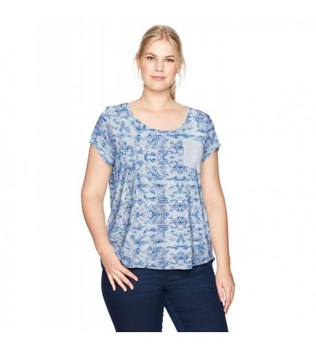 WallFlower Womens Printed Pocket Stripe