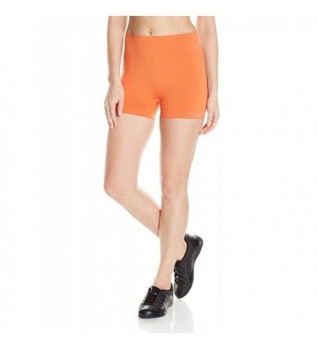 Oiselle Womens Flyte Shorts Orange