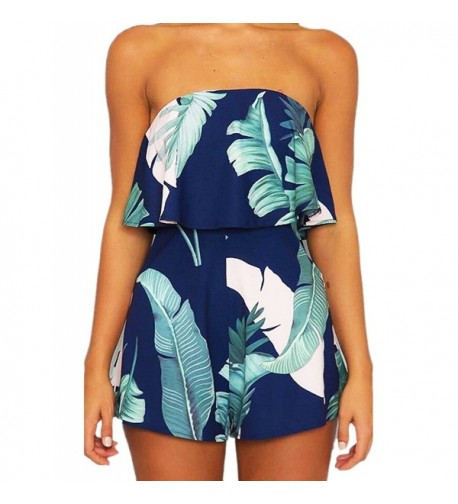 SugooVibe Shoulder Jumpsuit Strapless Playsuits
