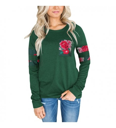 Zhaoyun Womens Crewneck Sweatshirt Green M