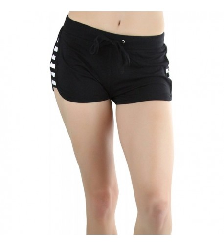 ToBeInStyle Womens Side Striped Dolphin Shorts