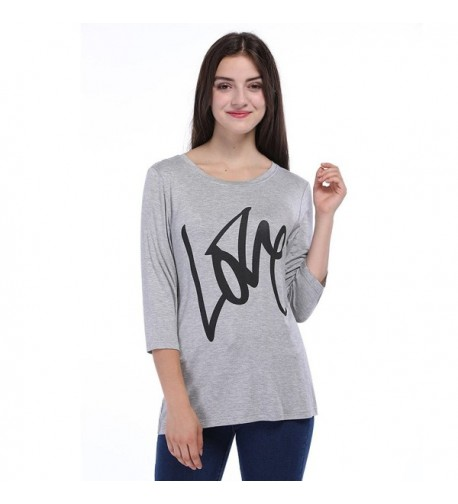 Fancyqube Womens Sleeve Letters Print