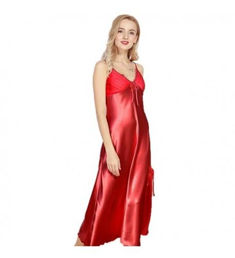 Dicesnow Pajamas Nightgown Sleeveless Sleepwear