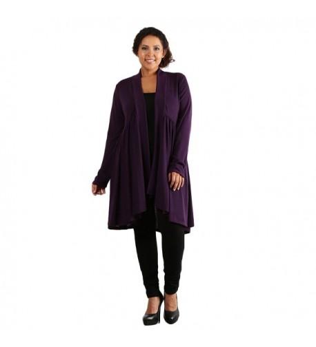 Aris Stretch Cardigan Sweater Purple