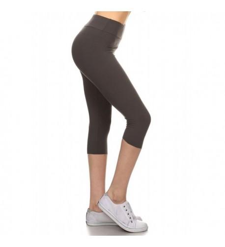 Leggings Depot Printed Workout Charcoal