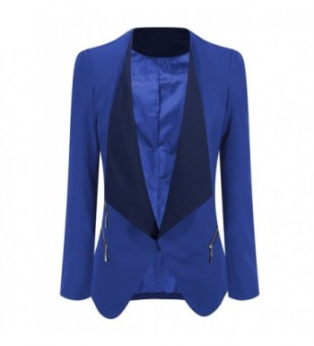 ACKKIA Womens Draped Blazer Business