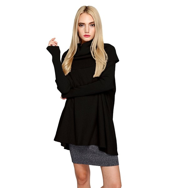 Womens Turtleneck Oversized Pullover Sweater