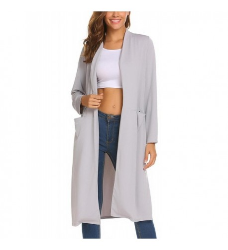 ODlover Womens Trench Lightweight Cardigans