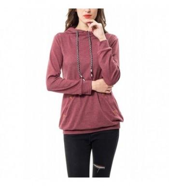 Womens Sleeve Pullover Sweatshirt Pockets