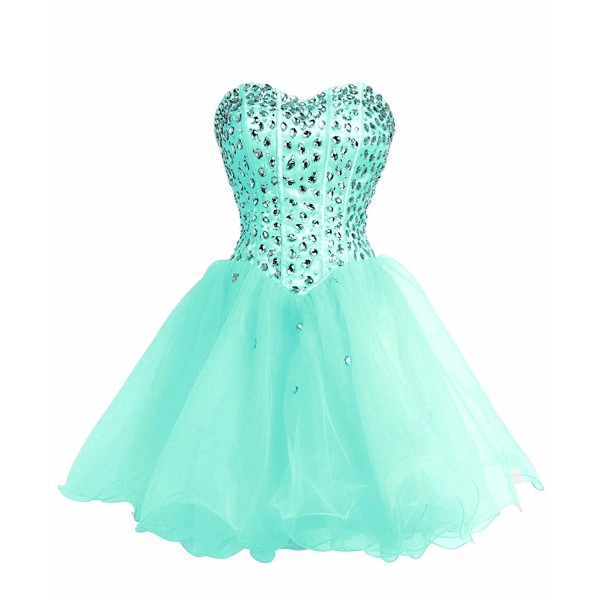 FAIRY COUPLE Strapless Homecoming turquoise
