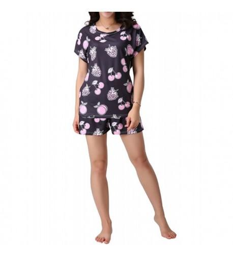 MyFav Sleepwear Printed Pajamas Loungewear