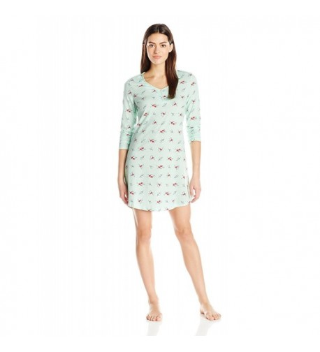 Jockey Womens Henley Sleepshirt Branches