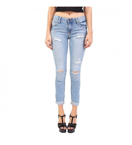 Ci Sono Middle Distressed Cropped
