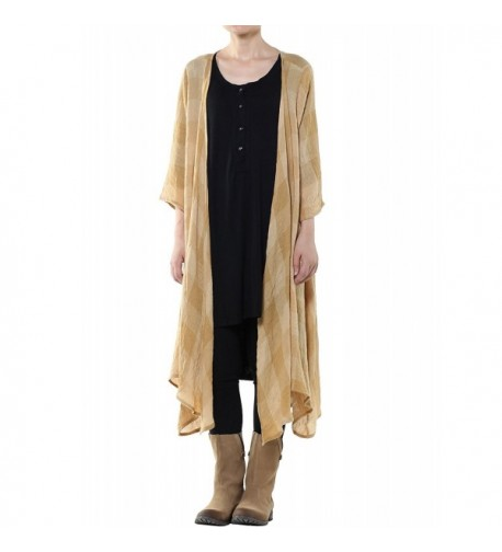 Mordenmiss Womens Loose Cardigan Yellow