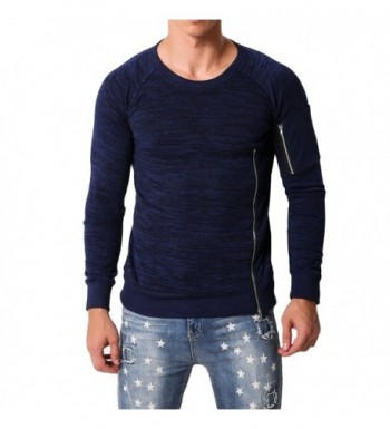 MODCHOK Sleeve Sweatshirts Crewneck Sweater