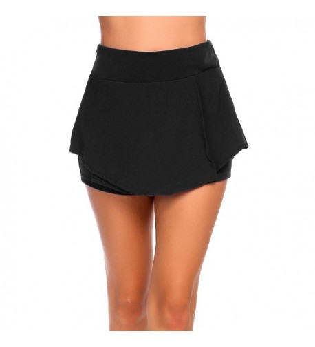 Womens waisted Pleated Shorts Skorts