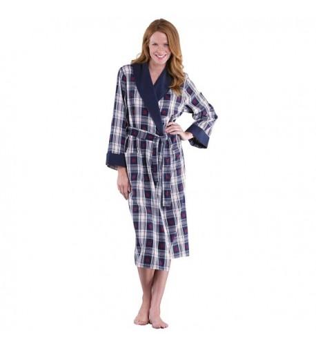 PajamaGram Snowfall Plaid Cotton Flannel