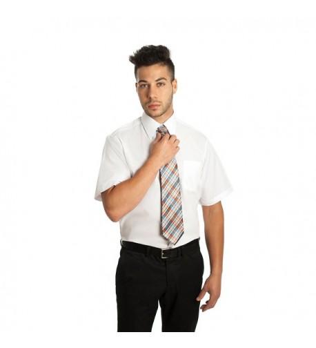 White Broadcloth Short Sleeve KingEdward