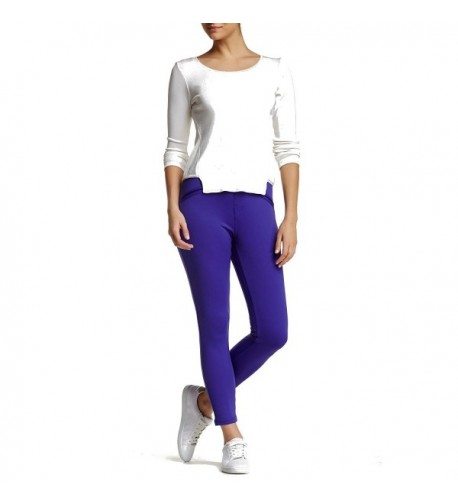 Satin Jersey Skimmer Leggings Purple