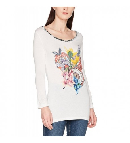 Desigual Womens Knitted Sleeve T Shirt