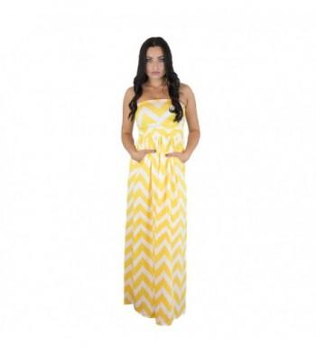 Womens Sleeveless Chevron Empire Yellow