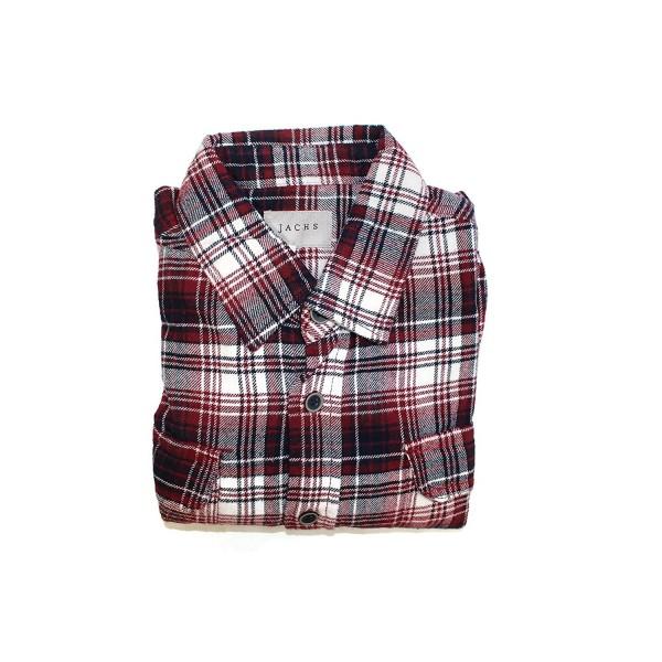 Cotton Flannel Brawny Button Medium