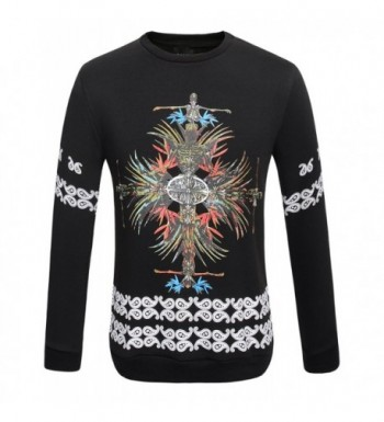 3ce54404643 Men s Skull Printed Active Thermal Casual Long Sleeve Fleece ...