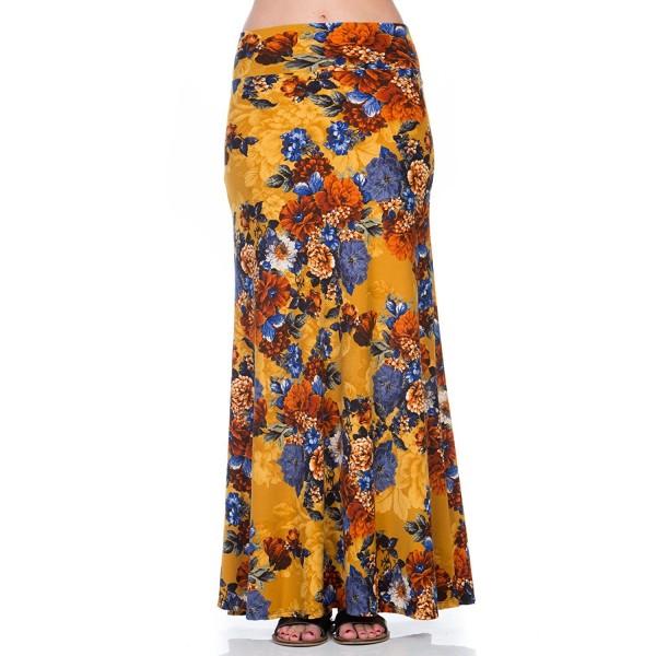 5cb0c5aed178 ... Women's Foldover High Waisted Floor Length Maxi Skirt - 222skbo Mustard  - CO189L5ZRYX. HerShe Foldover Waisted 222SKBO Mustard