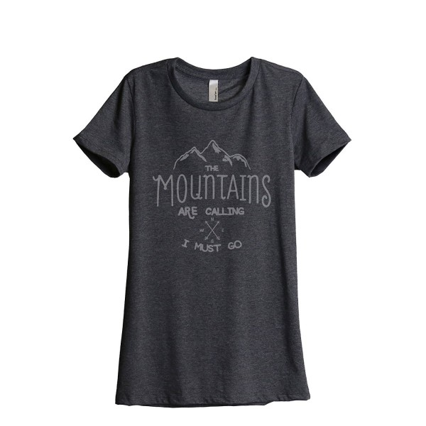 Mountains Calling Relaxed T Shirt Charcoal