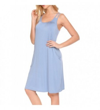 f3f7b497a6eedd HOTOUCH Womens Sleepwear Nightgown Iceblue  Designer Women s Nightgowns  Clearance ...