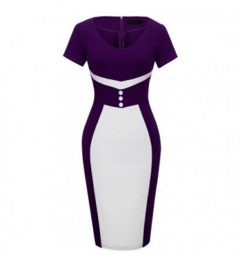 HOMEYEE Elegant Business Cocktail Bodycon