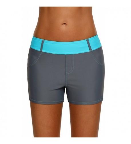 EVALESS Swimsuit Tankini Bottom Stretch