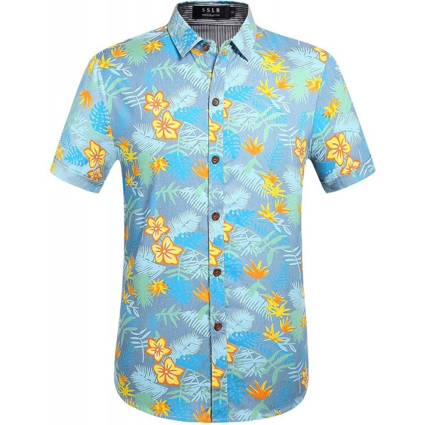 SSLR Cotton Button Hawaiian X Large