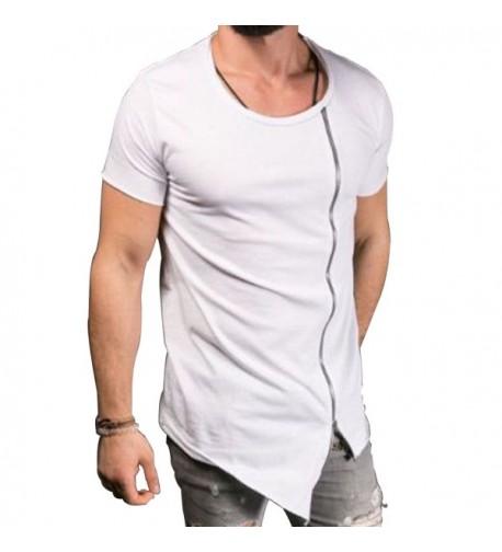 Extended Irregular T Shirt Zipper Asymmetrical