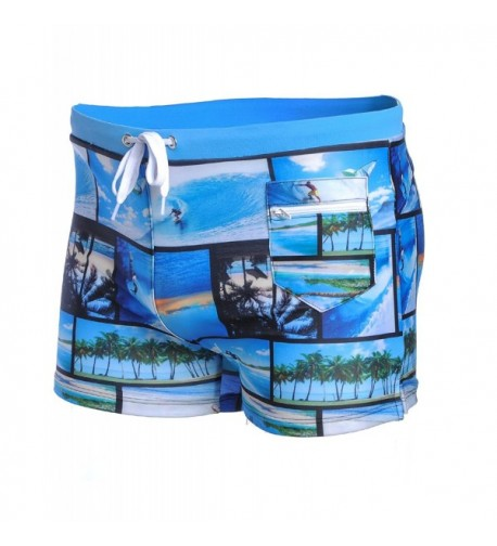 BELLOO Mens Square Swimsuit Shorts