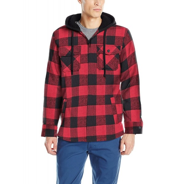 Burnside Flannel Hooded Jacket Sherpa