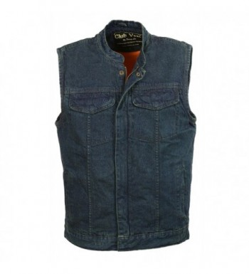 Club Vest CVM3000 BLUE XLCLUBVEST Mens Concealed Zipper BLUE XL