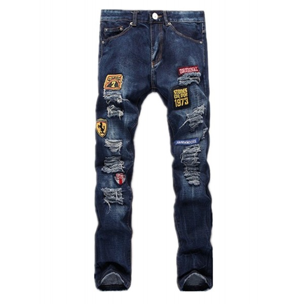 Washed Destroyed Distressed Ripped Skinny