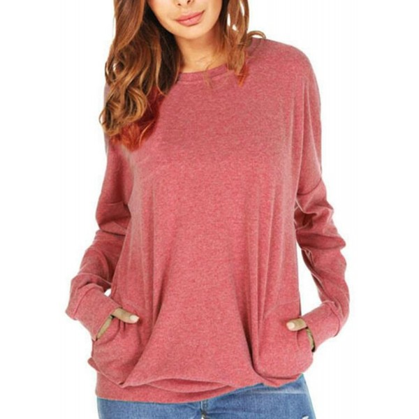UGET Casual Sweatshirt Blouses Pockets