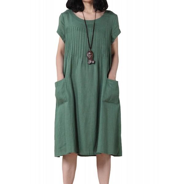 30d2c1aeb44 Women s Summer Daily Dress Pullover - Green - CI11TZV40WV
