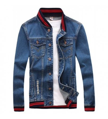 Olrek Casual Cotton Denim Jacke