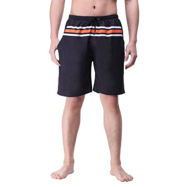 youvimi Stripe Casual Adjustable Boardshorts