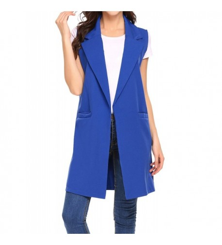 Showyoo Womens Sleeveless Duster Trench